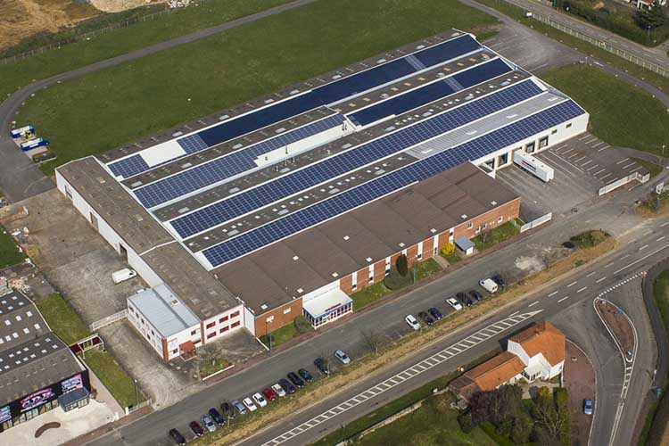 Peexio - Photographie aérienne d'une entreprise